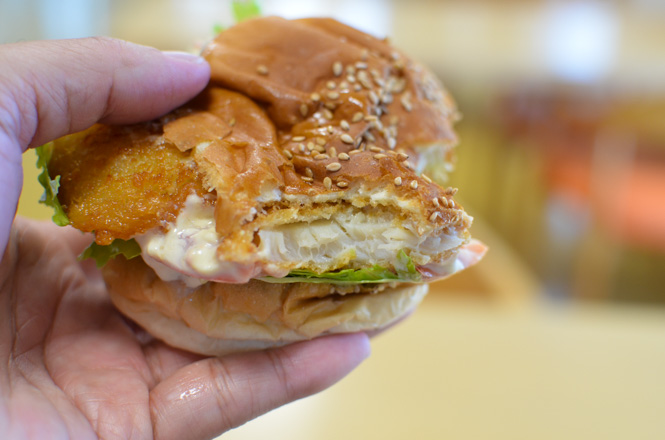 Scallop Hamburger -Hokusho Suisan in Saroma-